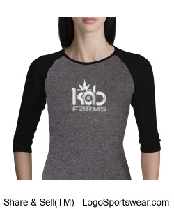 Kab Farms girls 3/4 sleeves Design Zoom