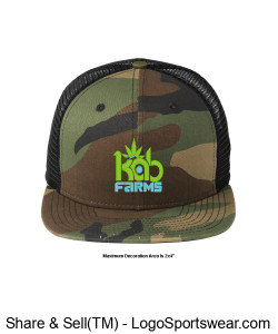 Kab Farms snap back camo Design Zoom